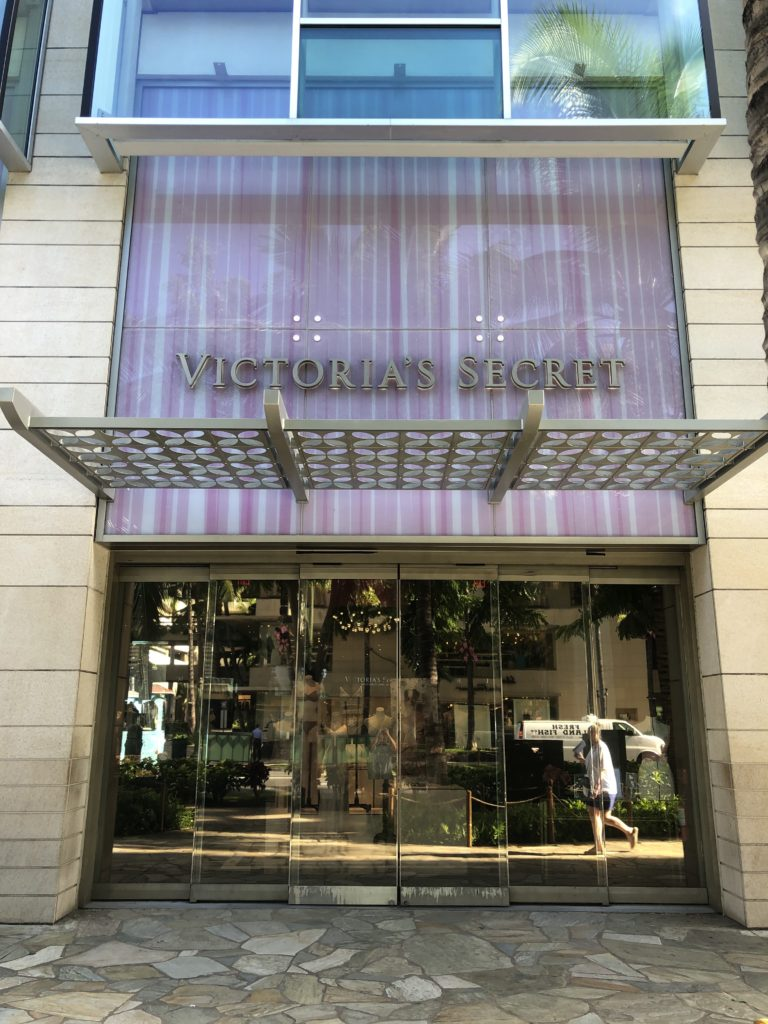 Victoria's Secret Store Front at Waikiki Shopping Plaza