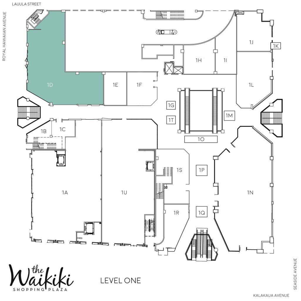Waikiki Shopping Plaza Directory Map 1D