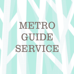 Metro Guide Service Waikiki Shopping Plaza Text Logo