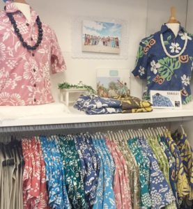 Aloha Outlet aloha shirts display
