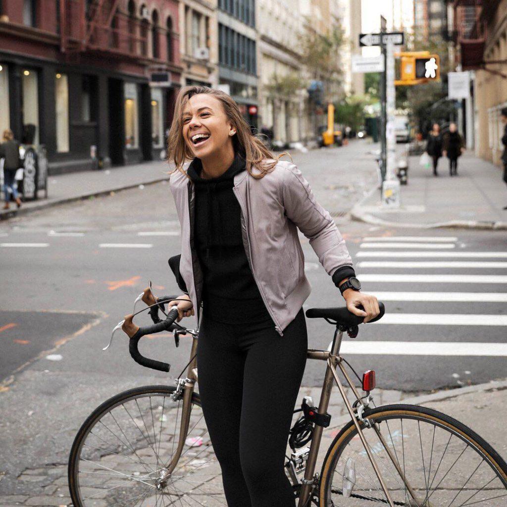 Biking in Lululemon Activewear