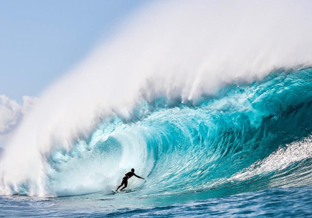 Surfing on North Shore Oahu