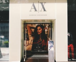 armani exchange store front