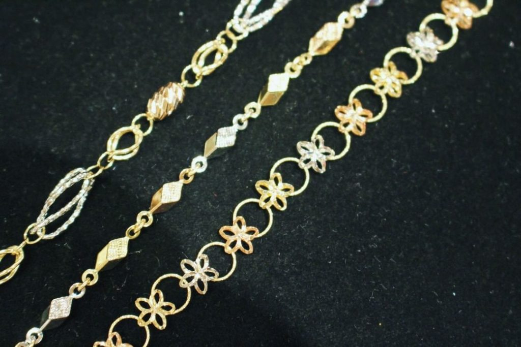 Gold bracelet from Wahing Jewelry & Arts