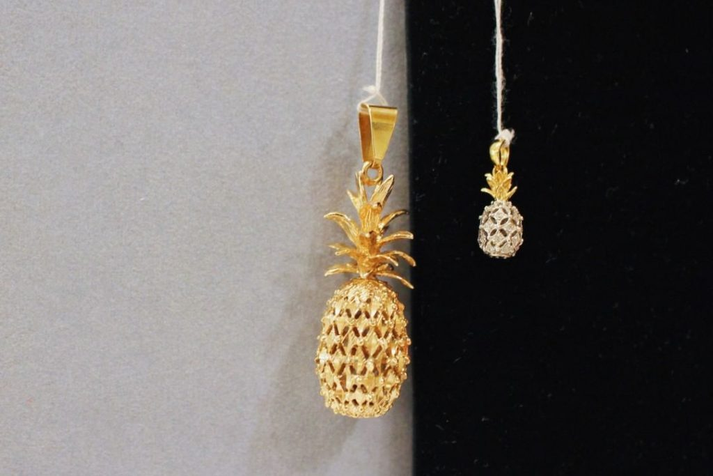 Pineapple pendant from Wahing Jewelry & Arts