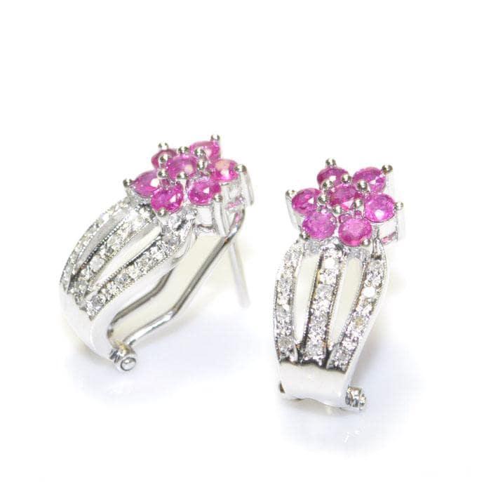 Ruby earrings with diamonds from Jewelry Kingdom Hawaii