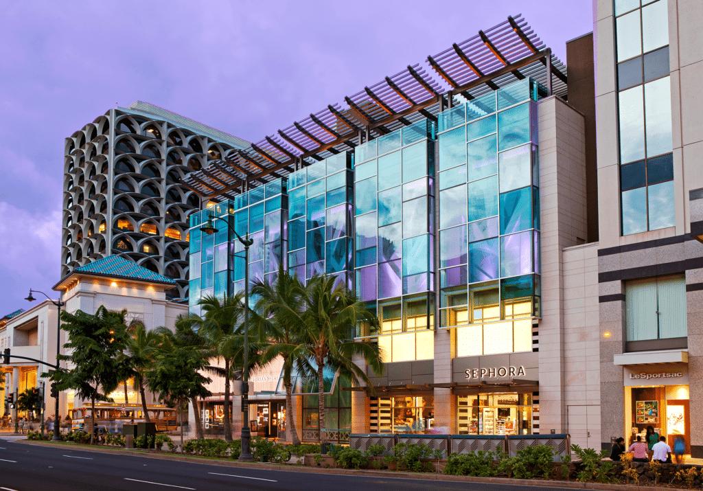 Waikiki Shopping Plaza from Kalakaua Avenue