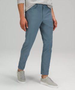 blue ABC pants