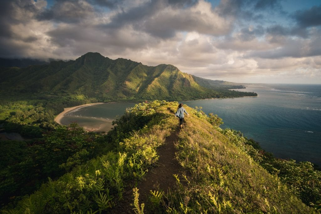 Hiking trail overlooking the ocean